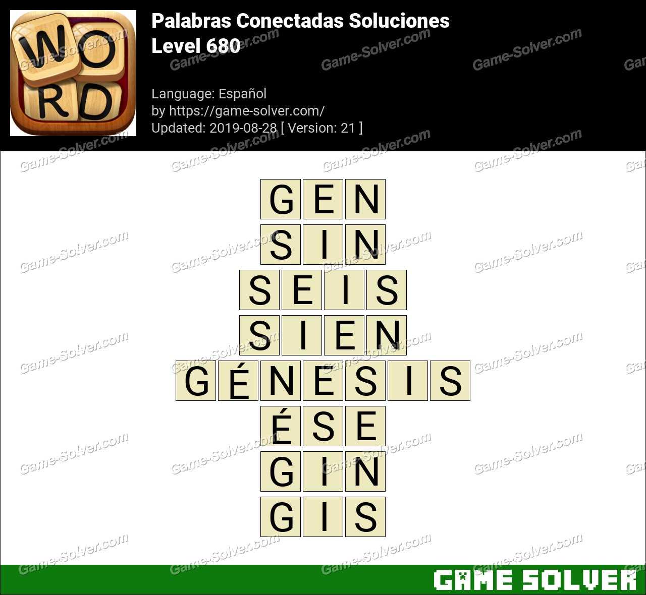 Palabras Conectadas Nivel 680 Soluciones