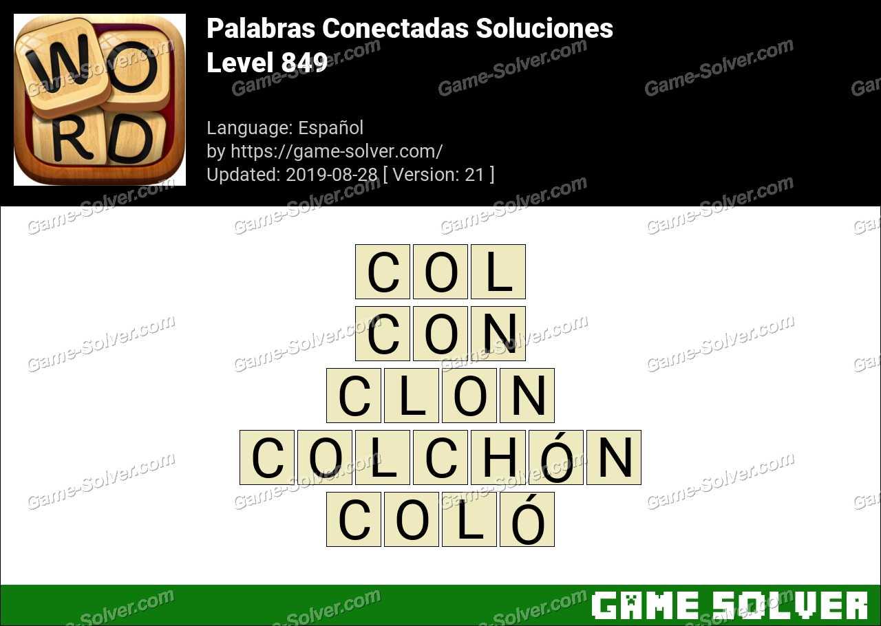 Palabras Conectadas Nivel 849 Soluciones