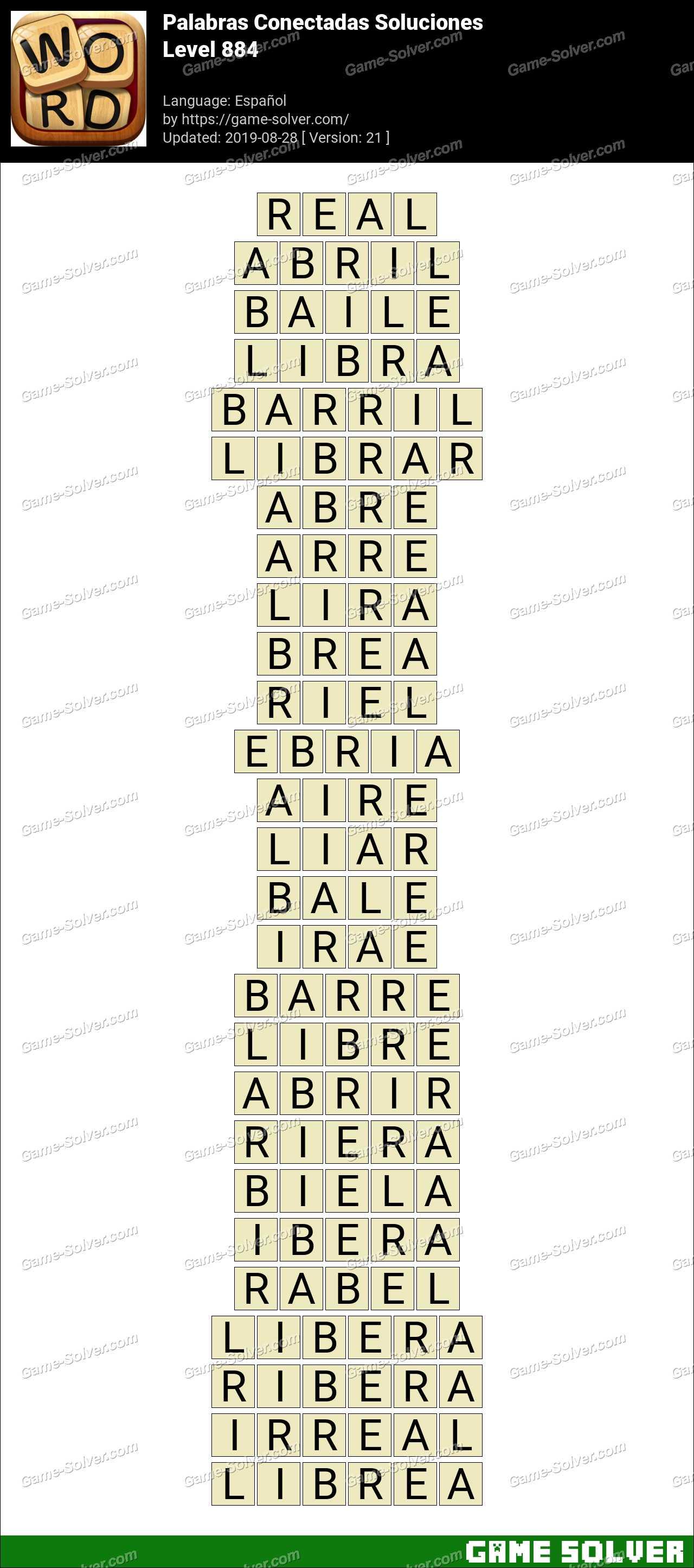 Palabras Conectadas Nivel 884 Soluciones
