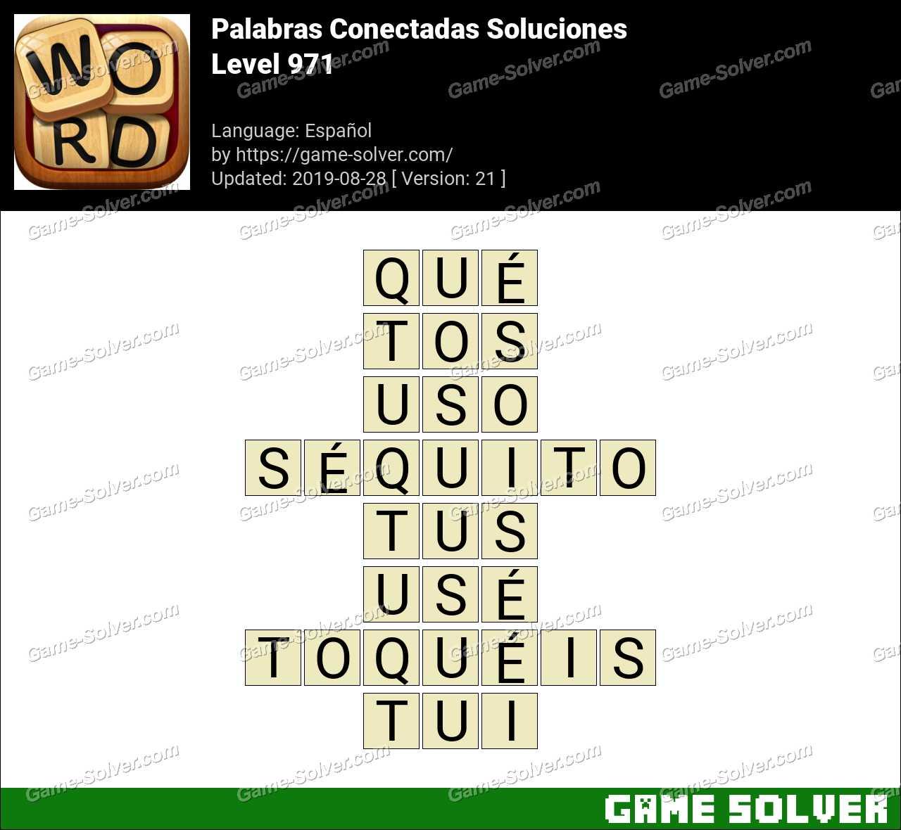 Palabras Conectadas Nivel 971 Soluciones