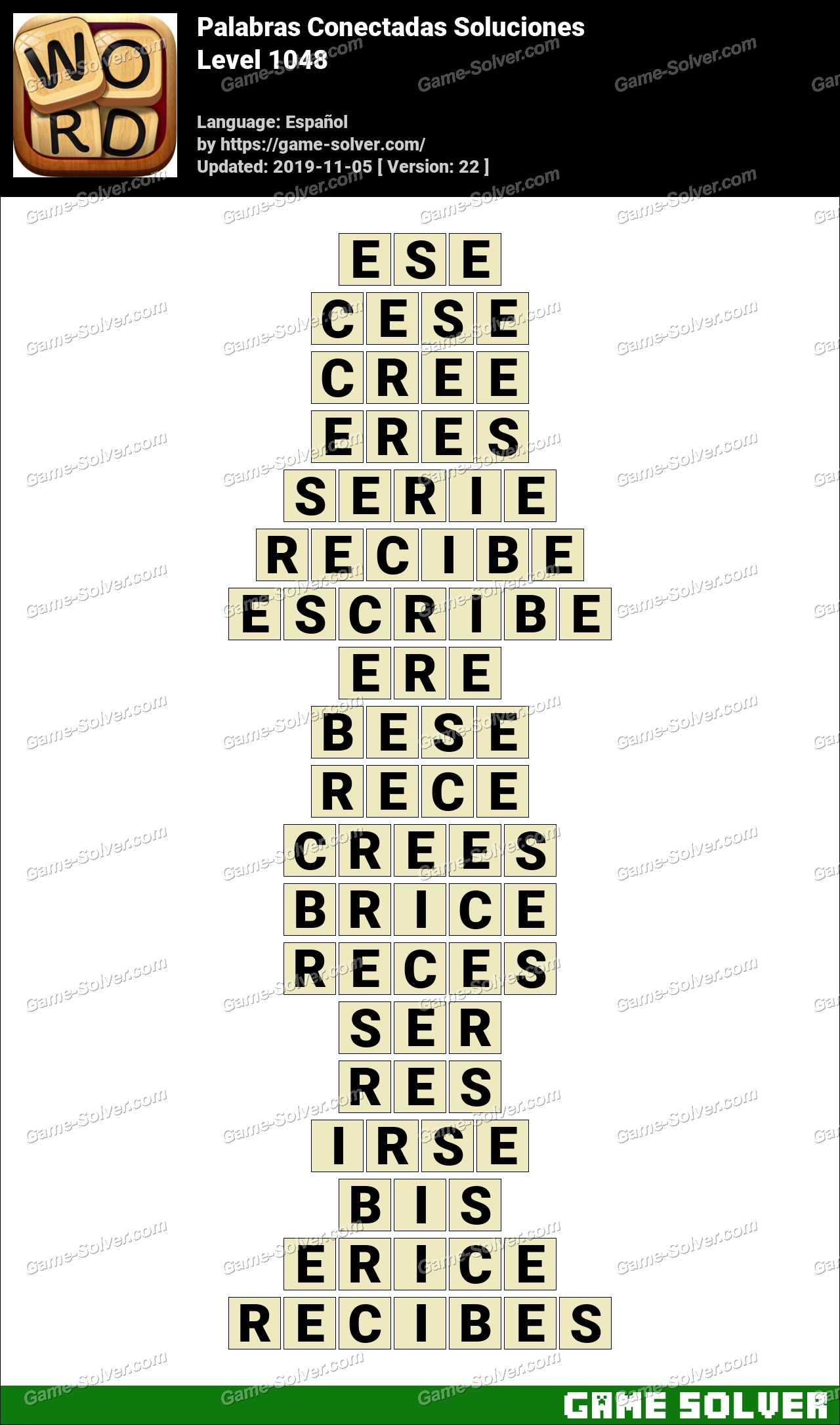 Palabras Conectadas Nivel 1048 Soluciones