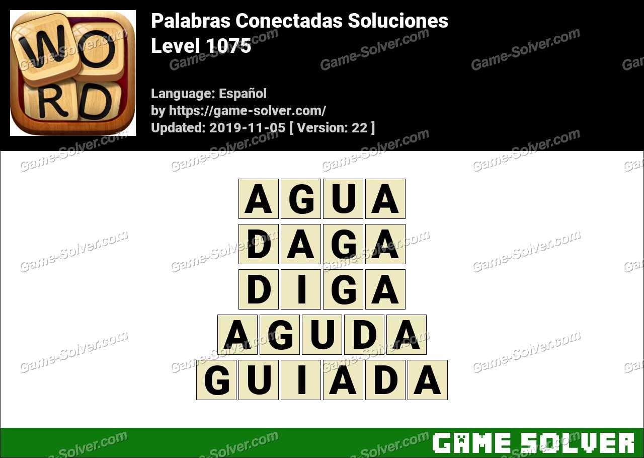 Palabras Conectadas Nivel 1075 Soluciones