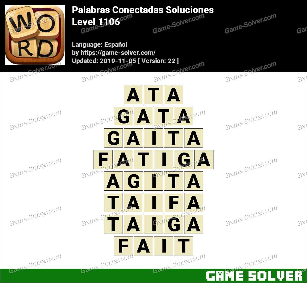 Palabras Conectadas Nivel 1106 Soluciones