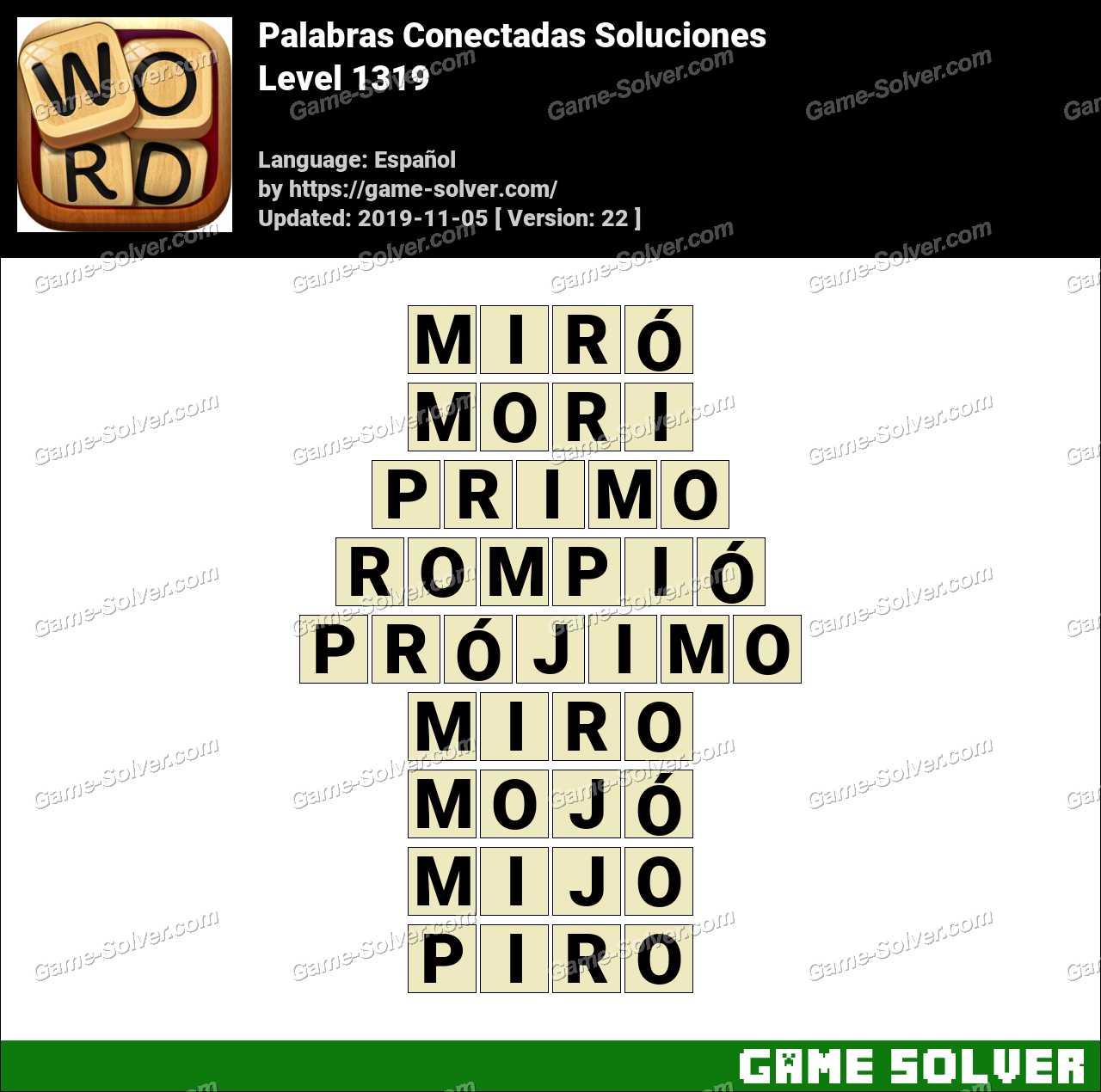 Palabras Conectadas Nivel 1319 Soluciones