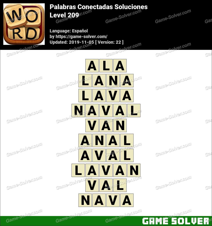 Palabras Conectadas Nivel 209 Soluciones