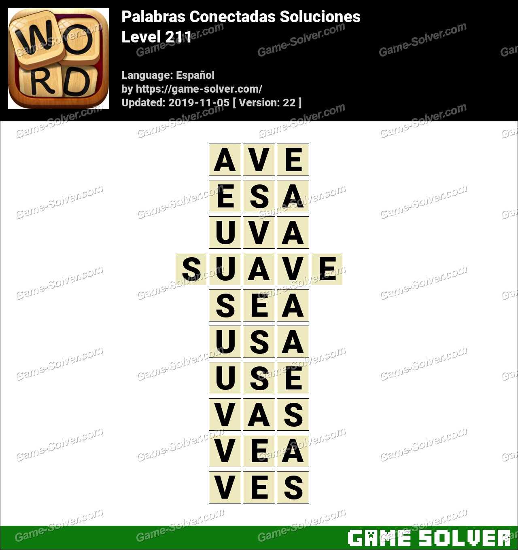 Palabras Conectadas Nivel 211 Soluciones