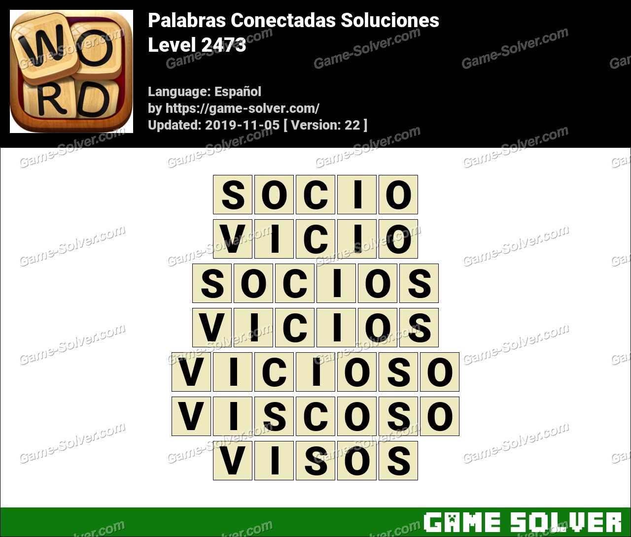 Palabras Conectadas Nivel 2473 Soluciones