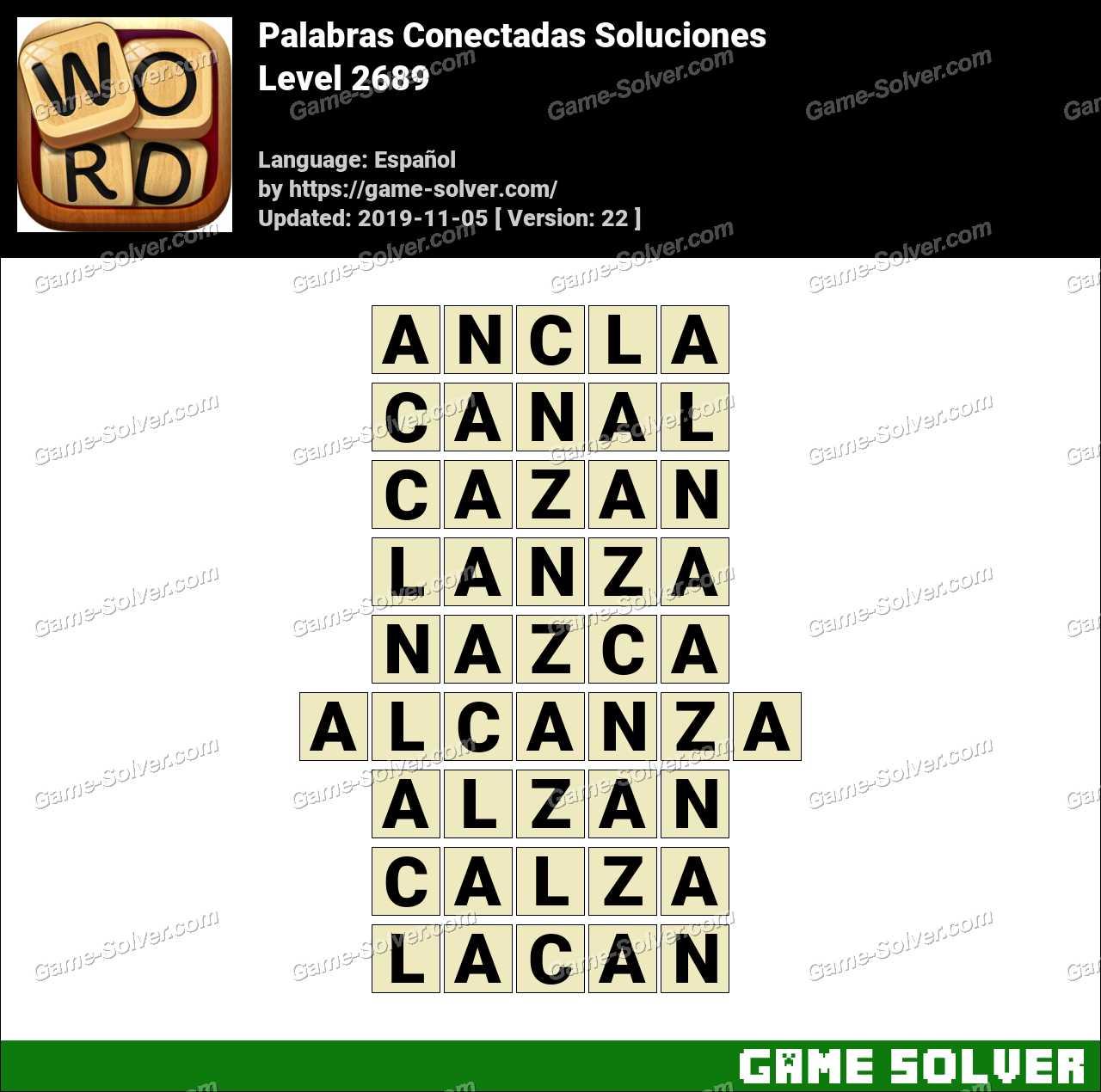 Palabras Conectadas Nivel 2689 Soluciones