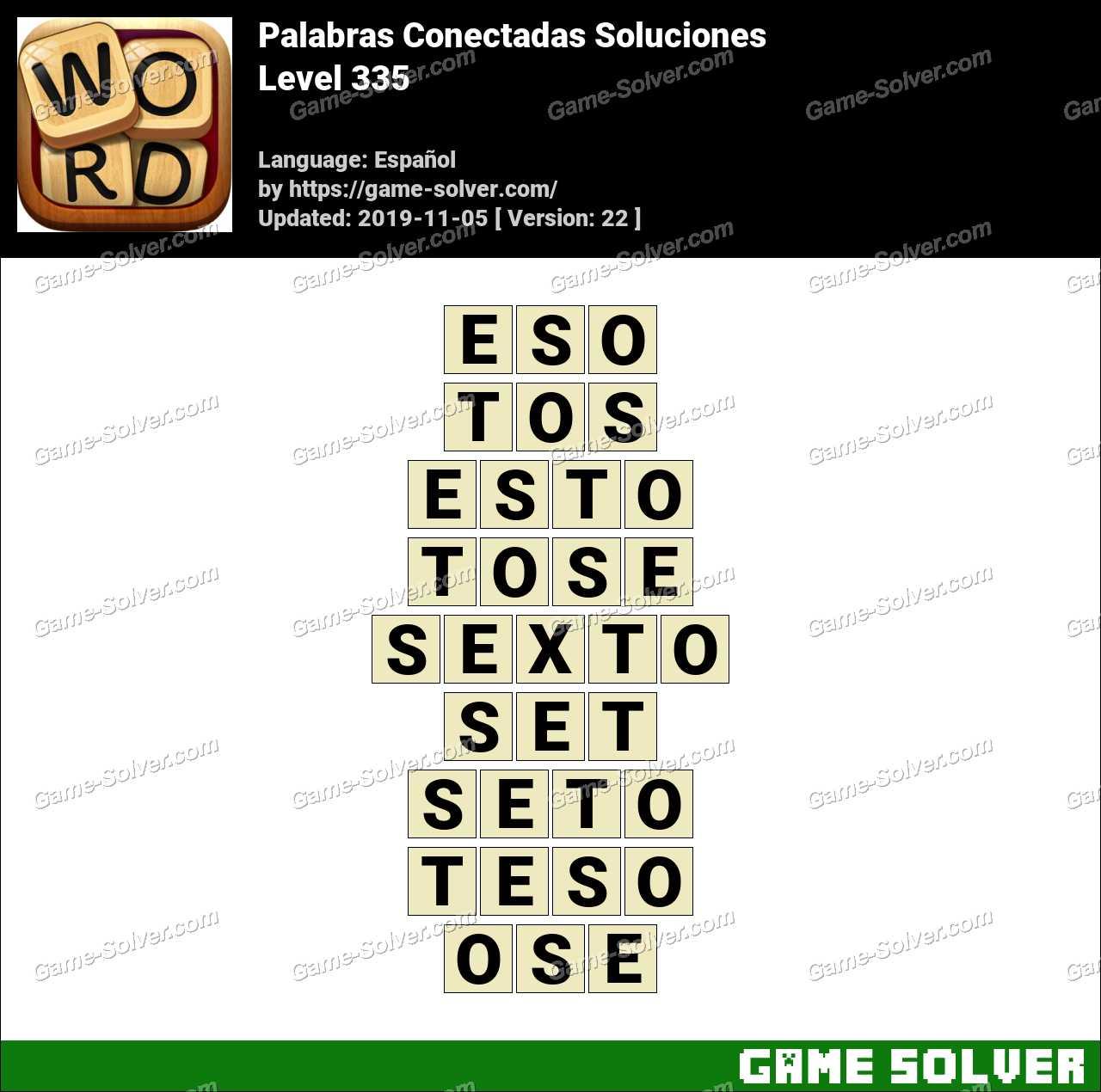 Palabras Conectadas Nivel 335 Soluciones