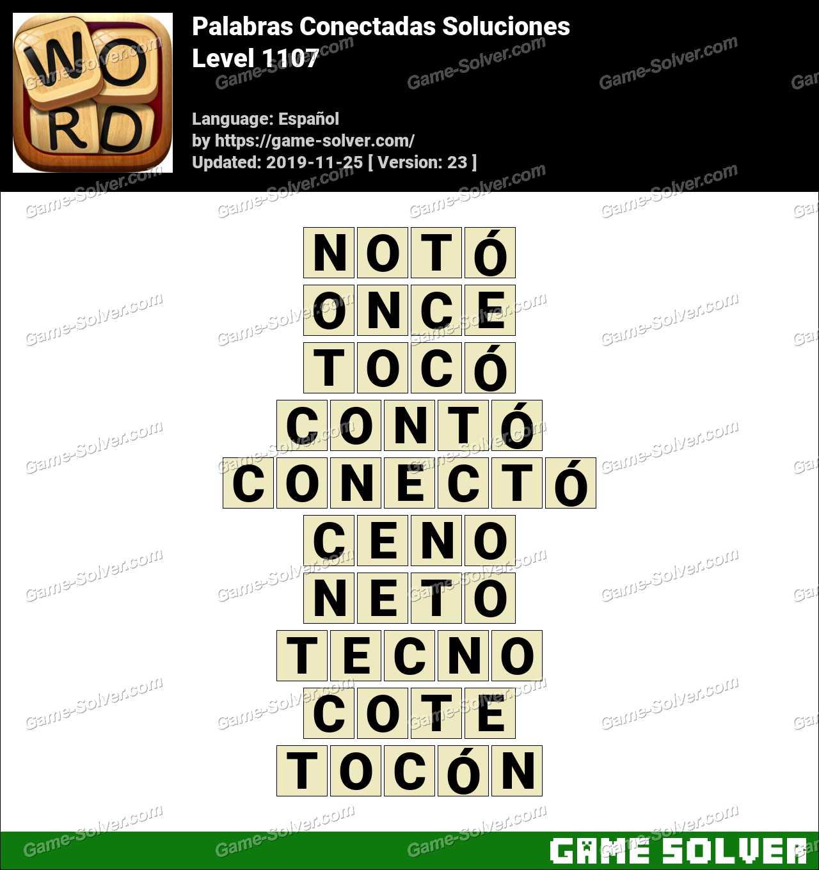 Palabras Conectadas Nivel 1107 Soluciones