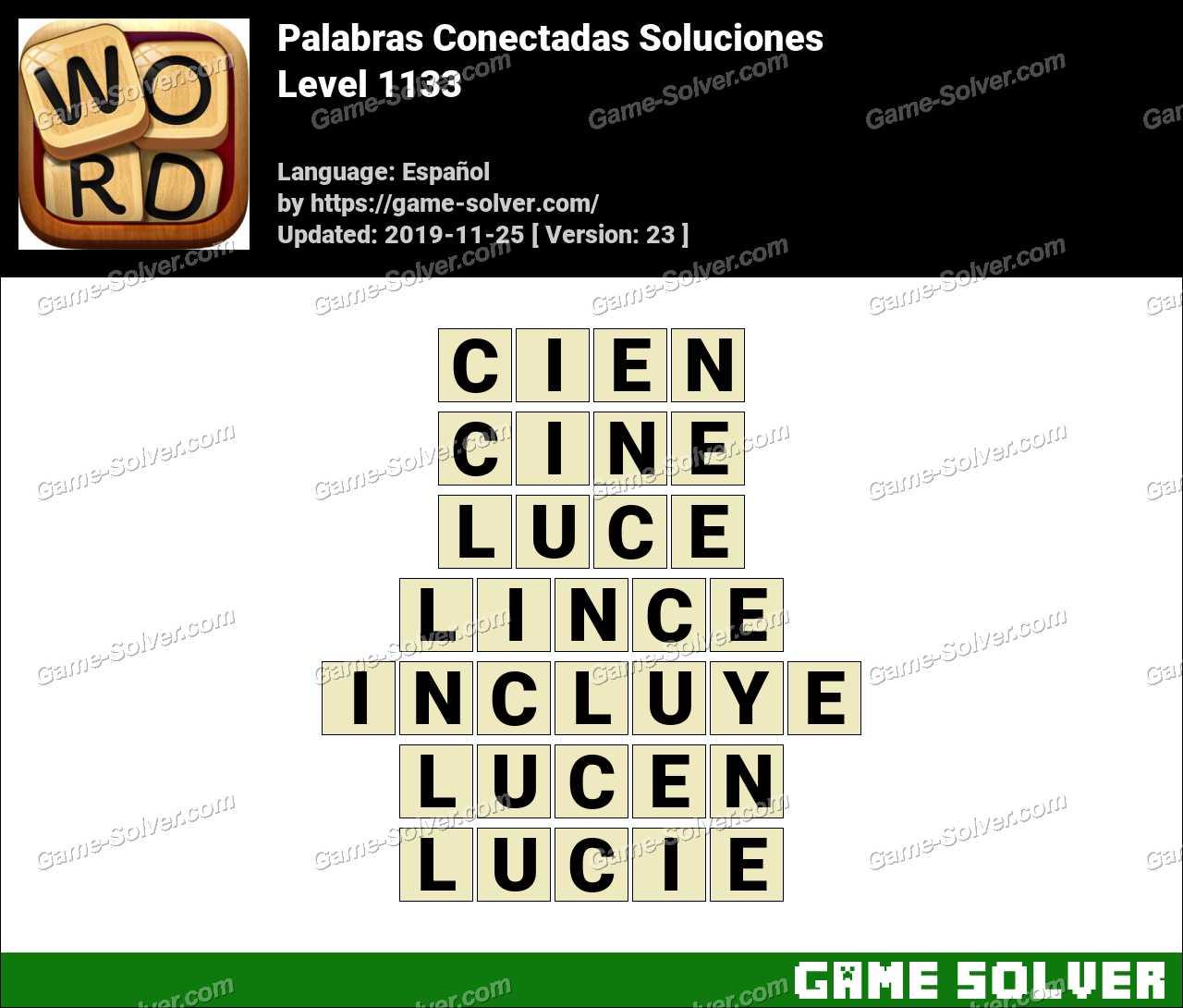 Palabras Conectadas Nivel 1133 Soluciones