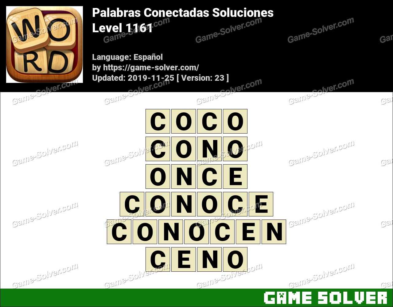 Palabras Conectadas Nivel 1161 Soluciones
