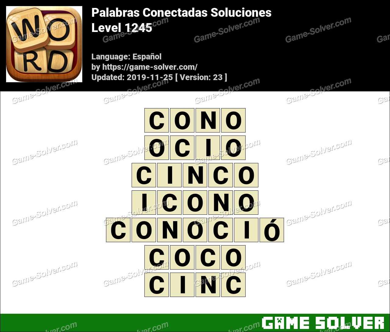 Palabras Conectadas Nivel 1245 Soluciones