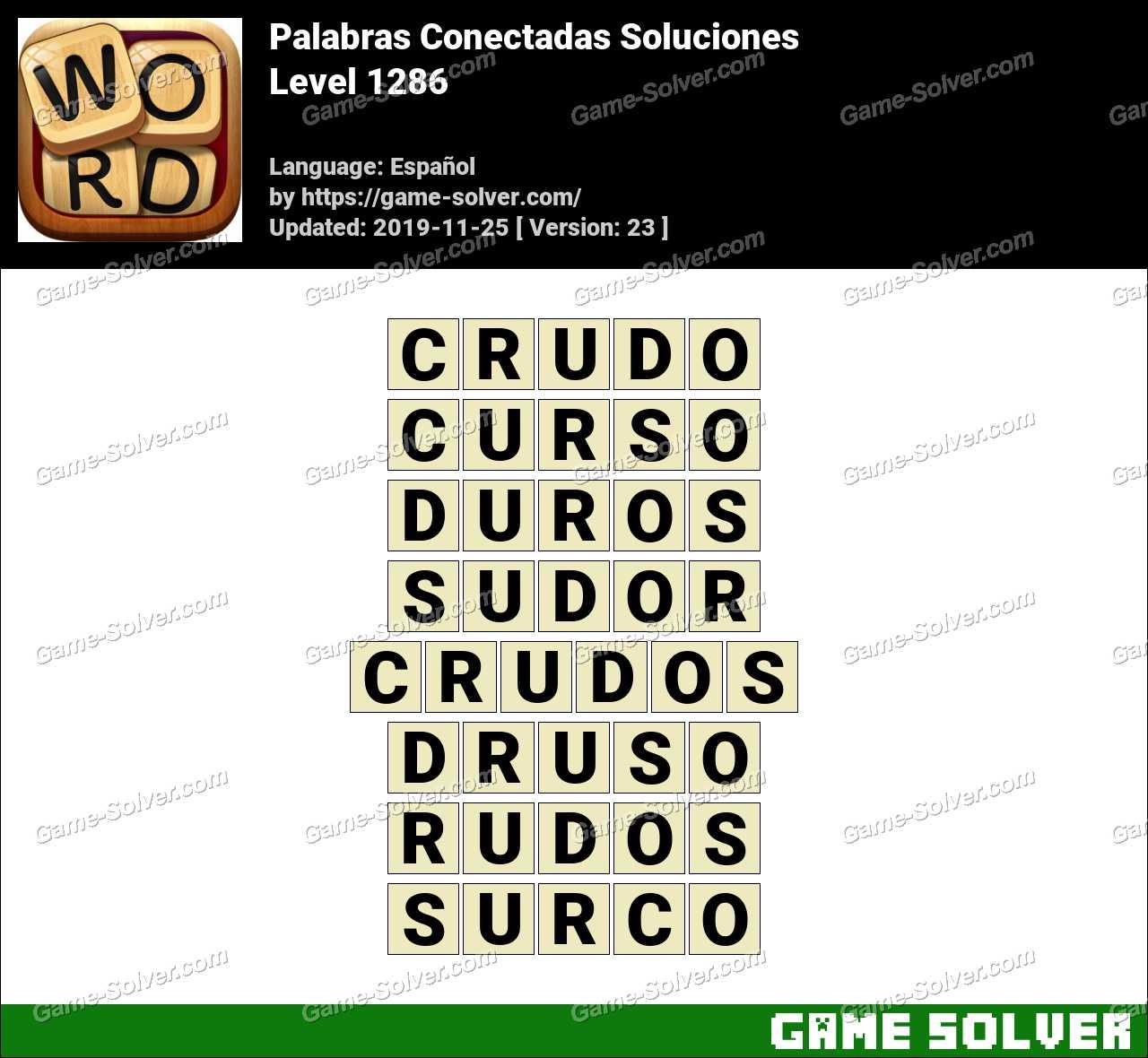 Palabras Conectadas Nivel 1286 Soluciones