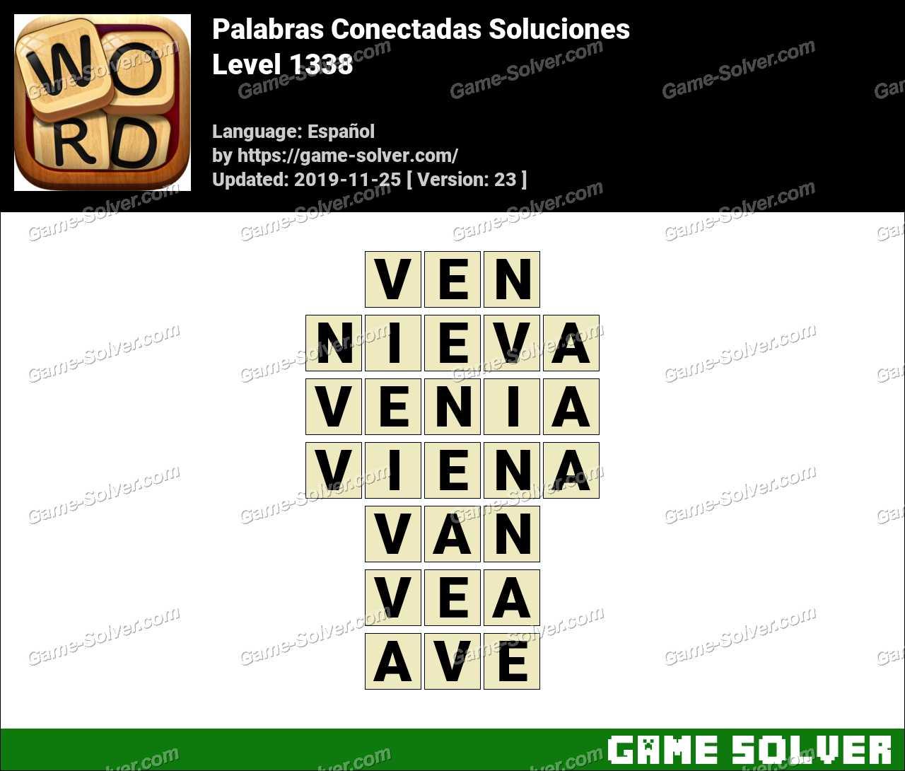 Palabras Conectadas Nivel 1338 Soluciones