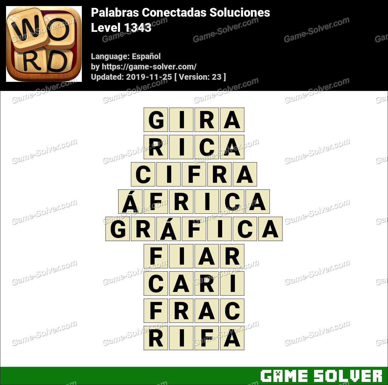 Palabras Conectadas Nivel 1343 Soluciones