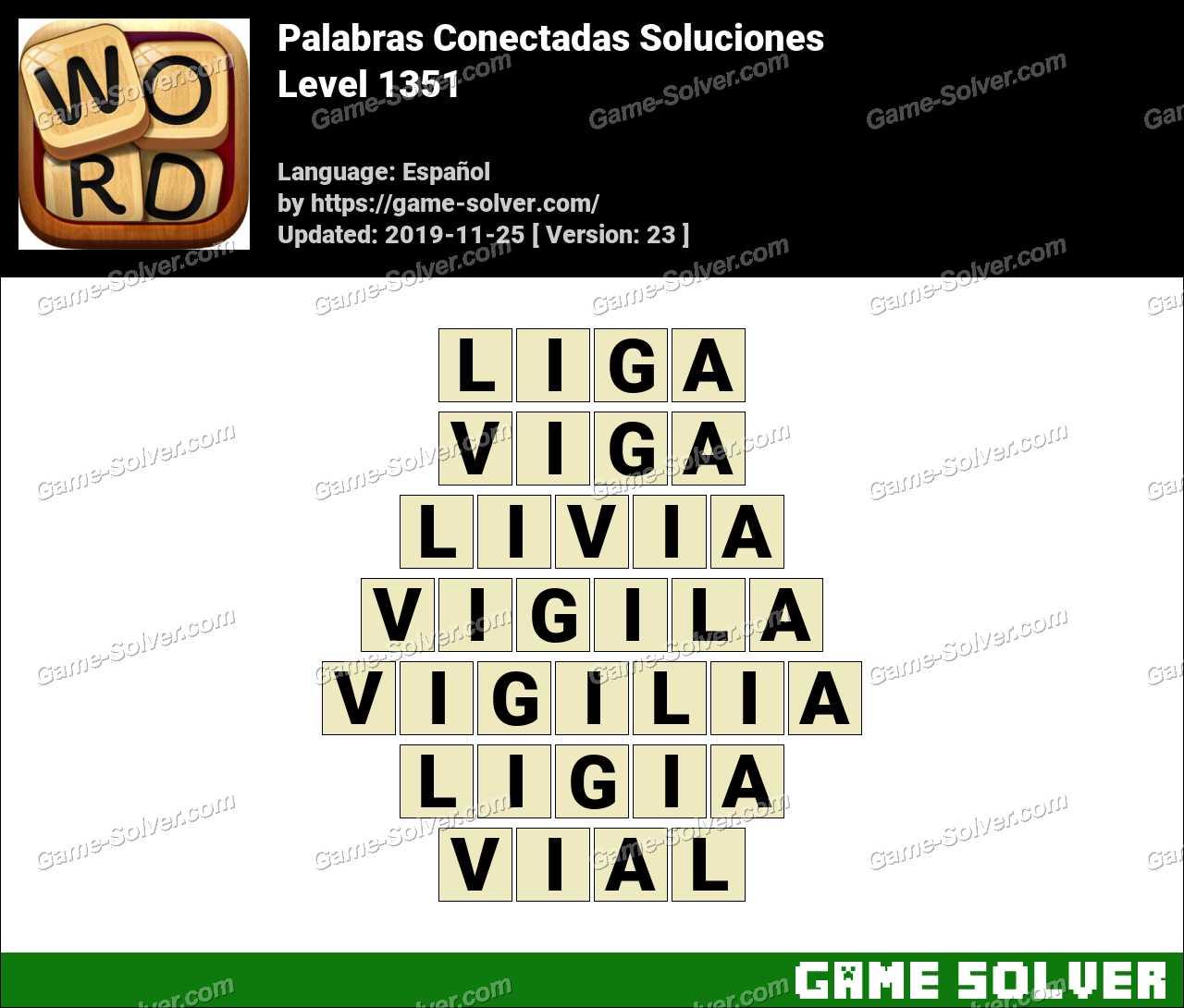 Palabras Conectadas Nivel 1351 Soluciones