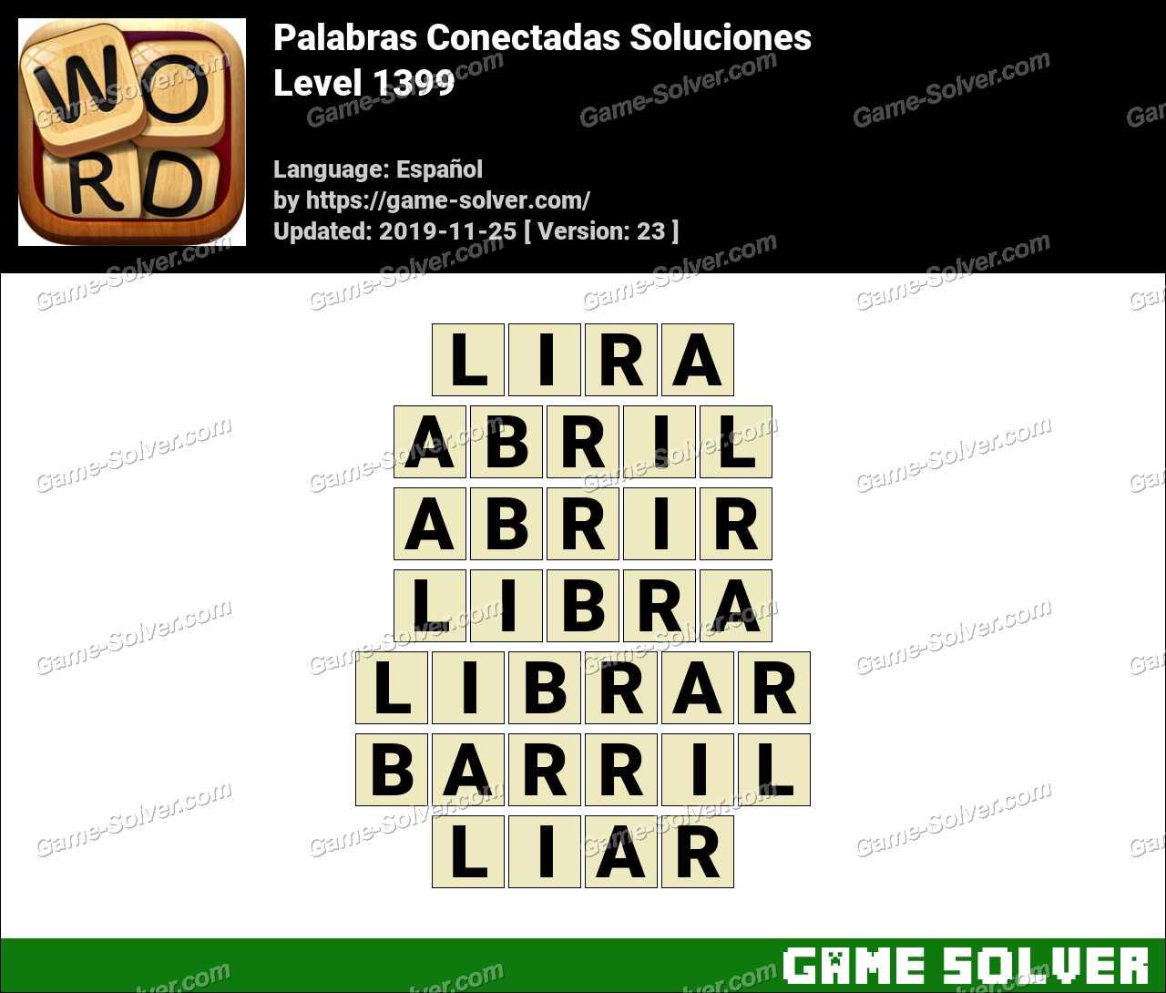Palabras Conectadas Nivel 1399 Soluciones