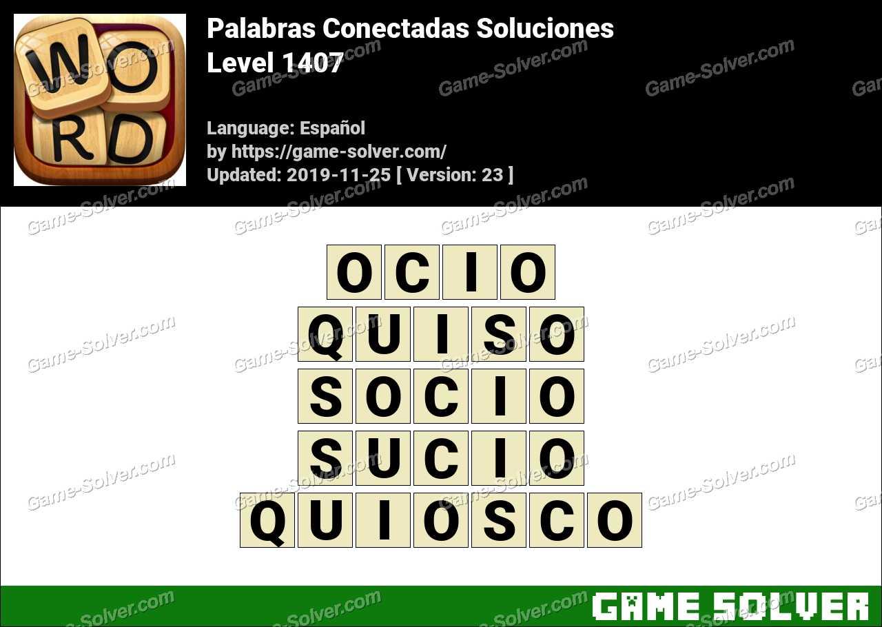 Palabras Conectadas Nivel 1407 Soluciones