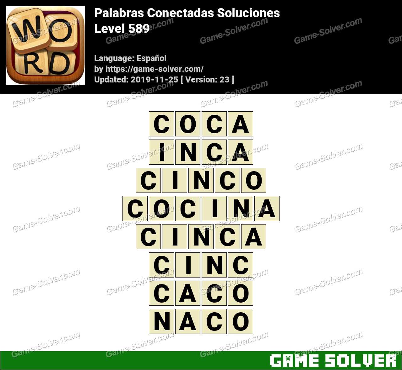 Palabras Conectadas Nivel 589 Soluciones