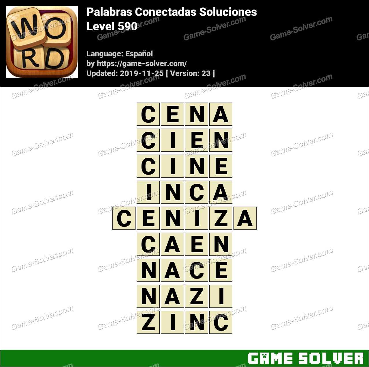 Palabras Conectadas Nivel 590 Soluciones