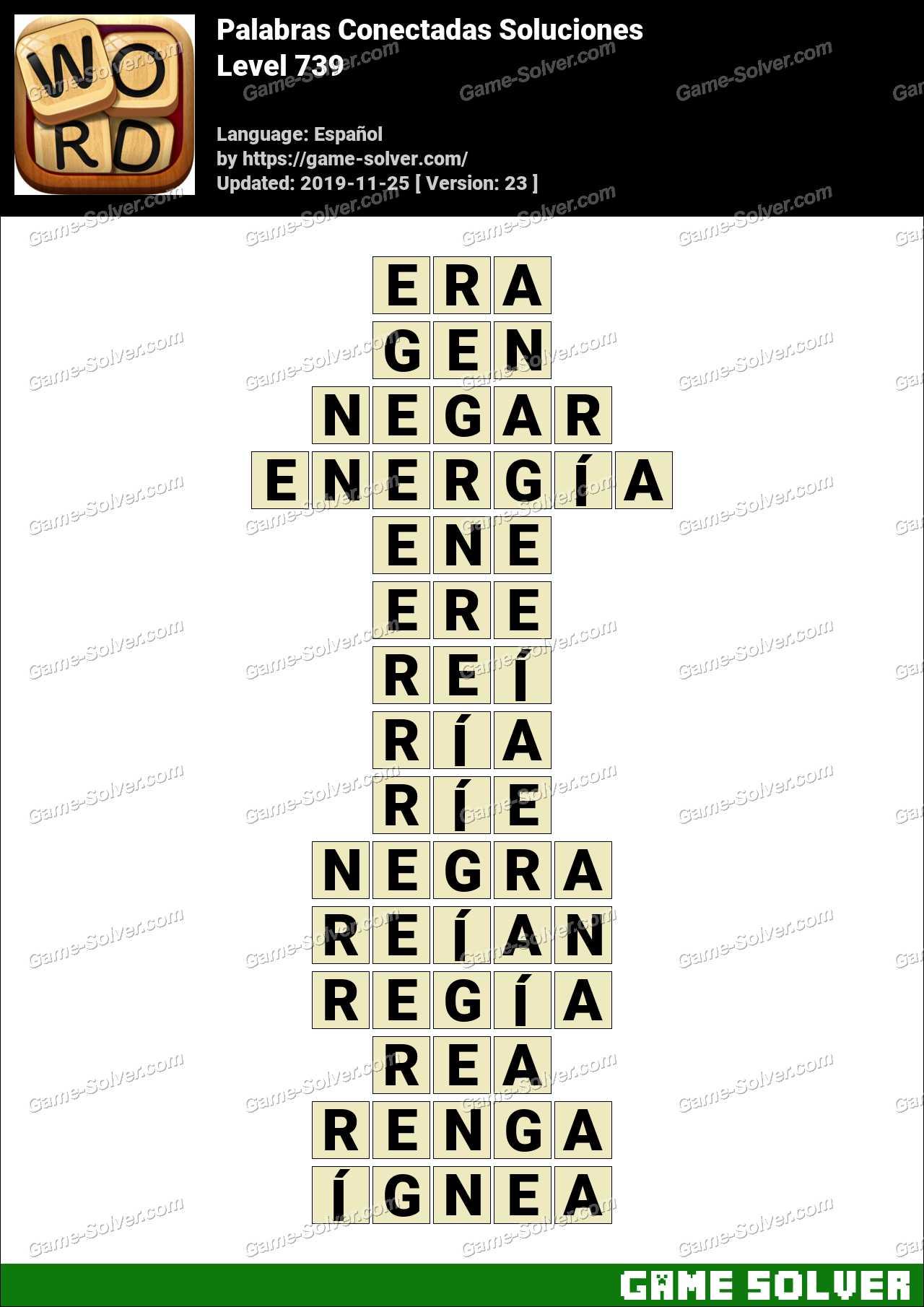 Palabras Conectadas Nivel 739 Soluciones