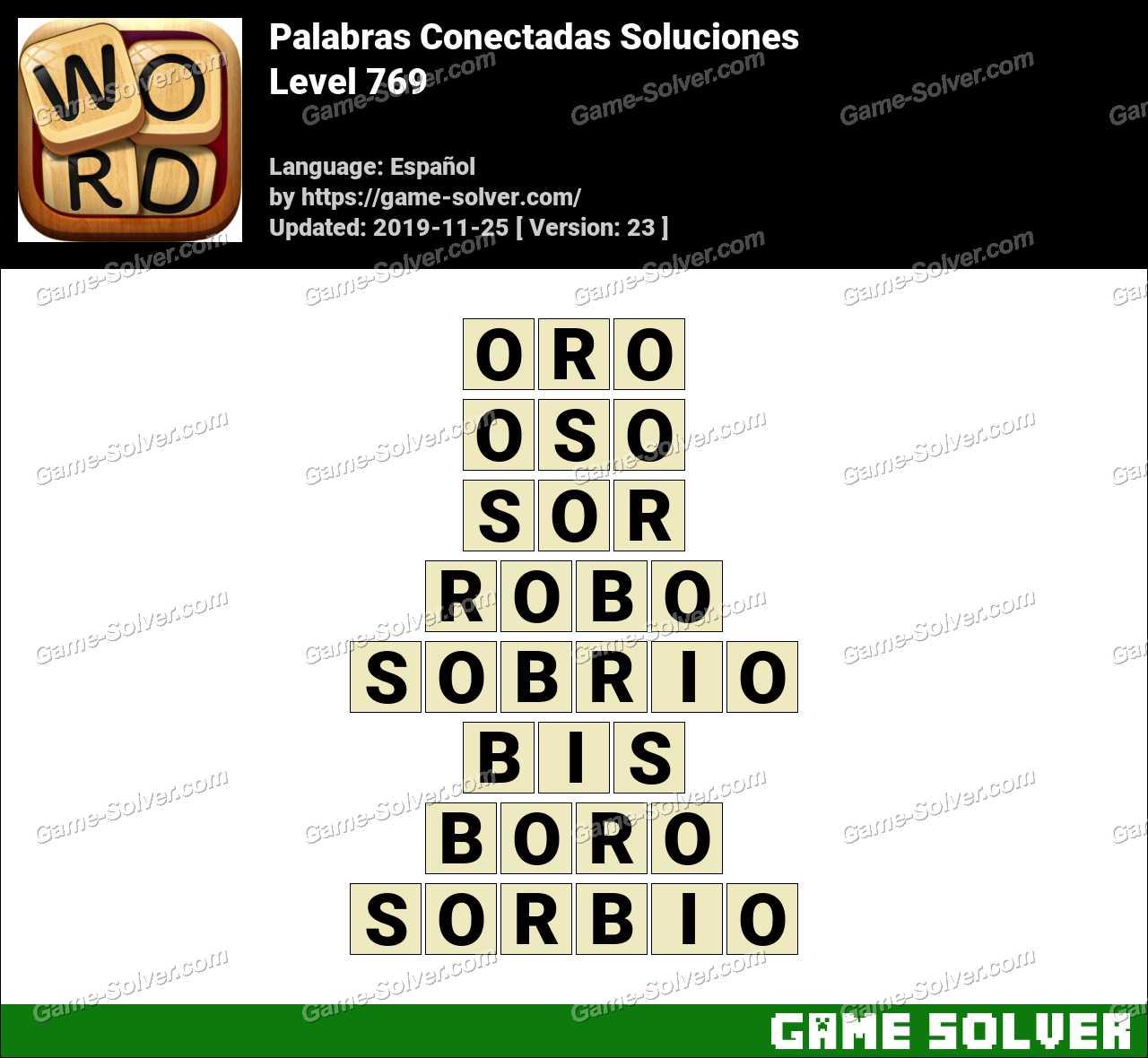 Palabras Conectadas Nivel 769 Soluciones