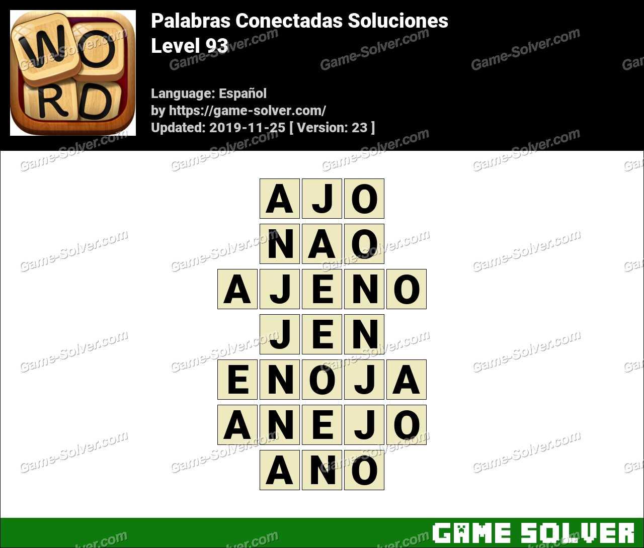 Palabras Conectadas Nivel 93 Soluciones