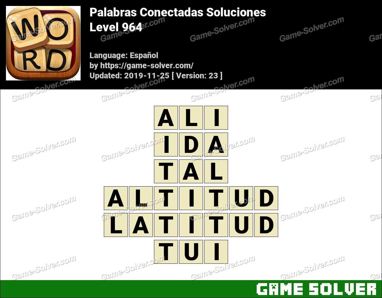 Palabras Conectadas Nivel 964 Soluciones