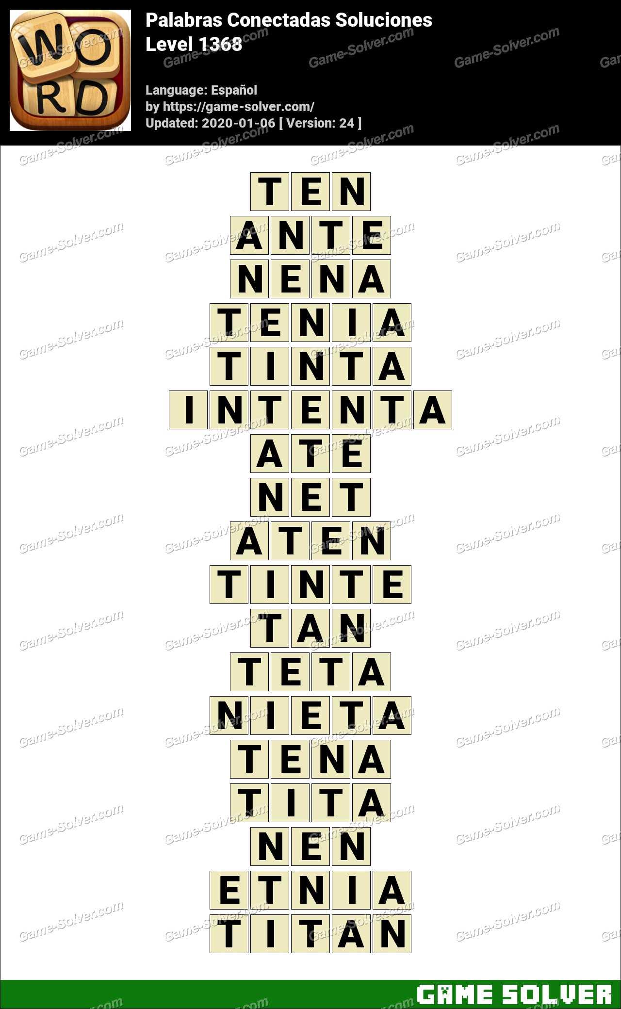Palabras Conectadas Nivel 1368 Soluciones
