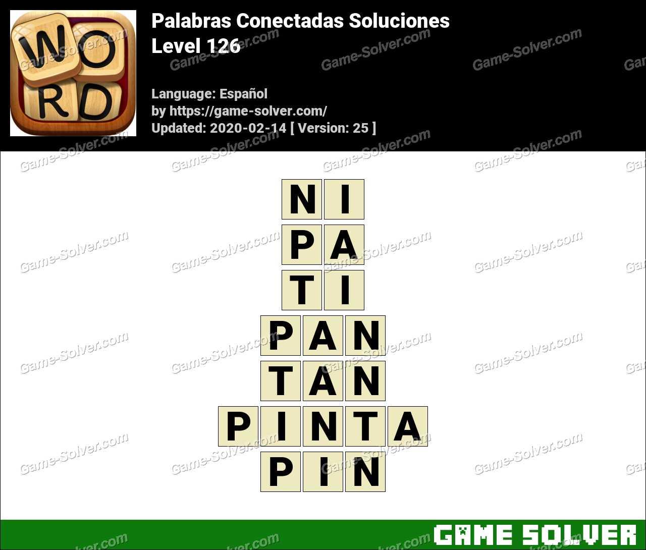 Palabras Conectadas Nivel 126 Soluciones