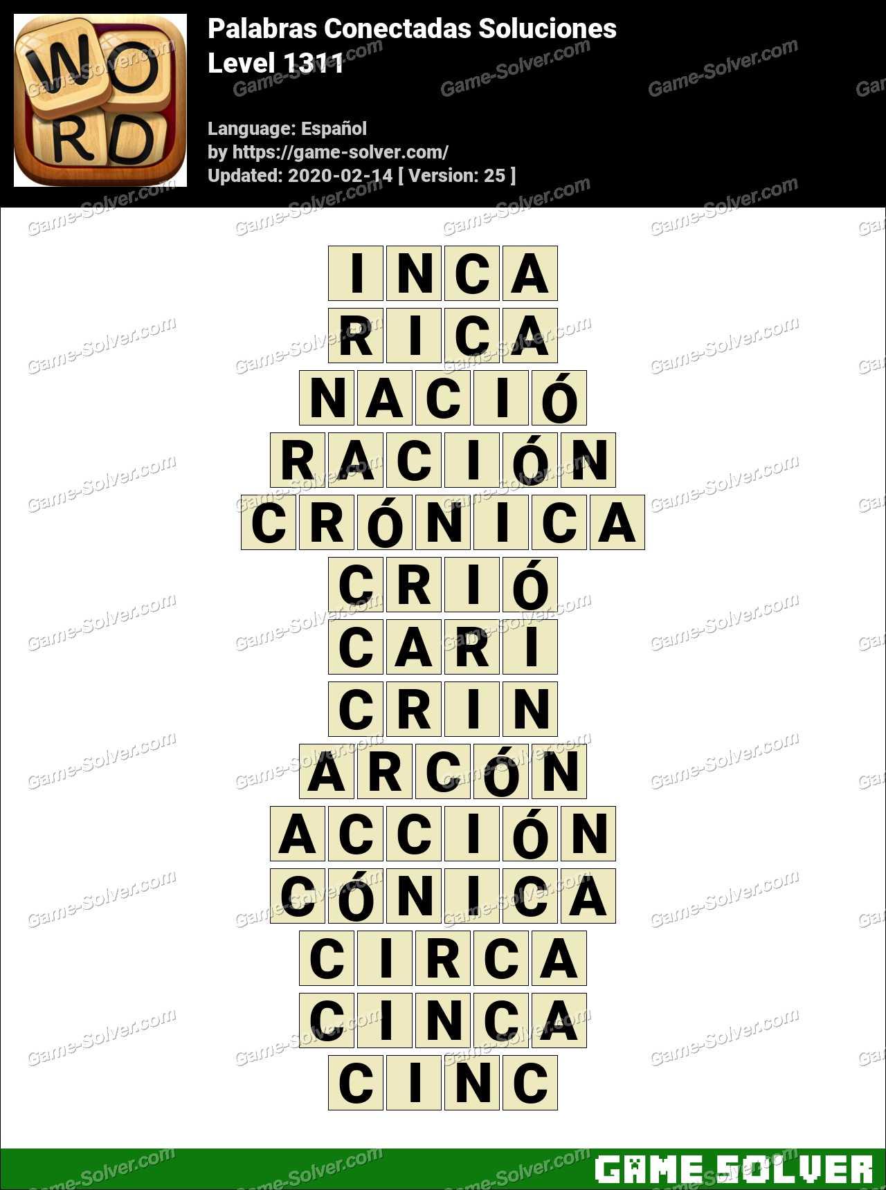Palabras Conectadas Nivel 1311 Soluciones