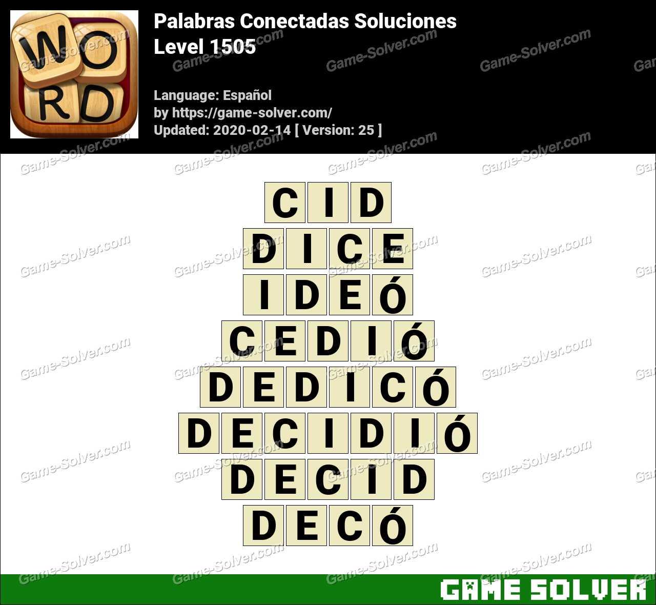 Palabras Conectadas Nivel 1505 Soluciones