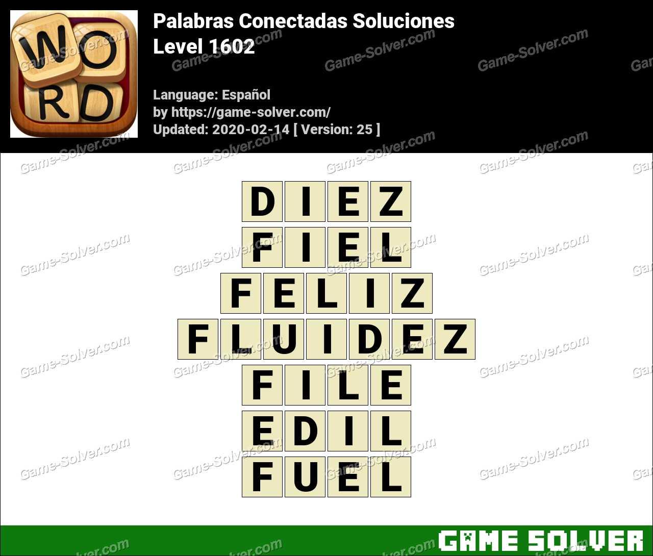 Palabras Conectadas Nivel 1602 Soluciones