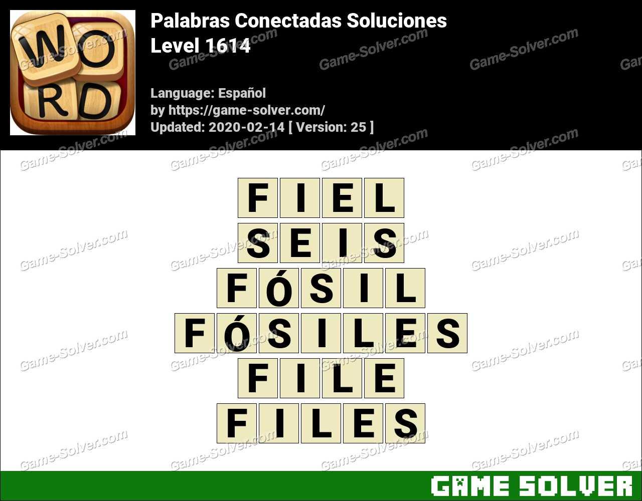 Palabras Conectadas Nivel 1614 Soluciones