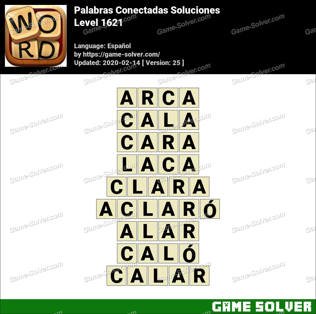 Palabras Conectadas Nivel 1621 Soluciones