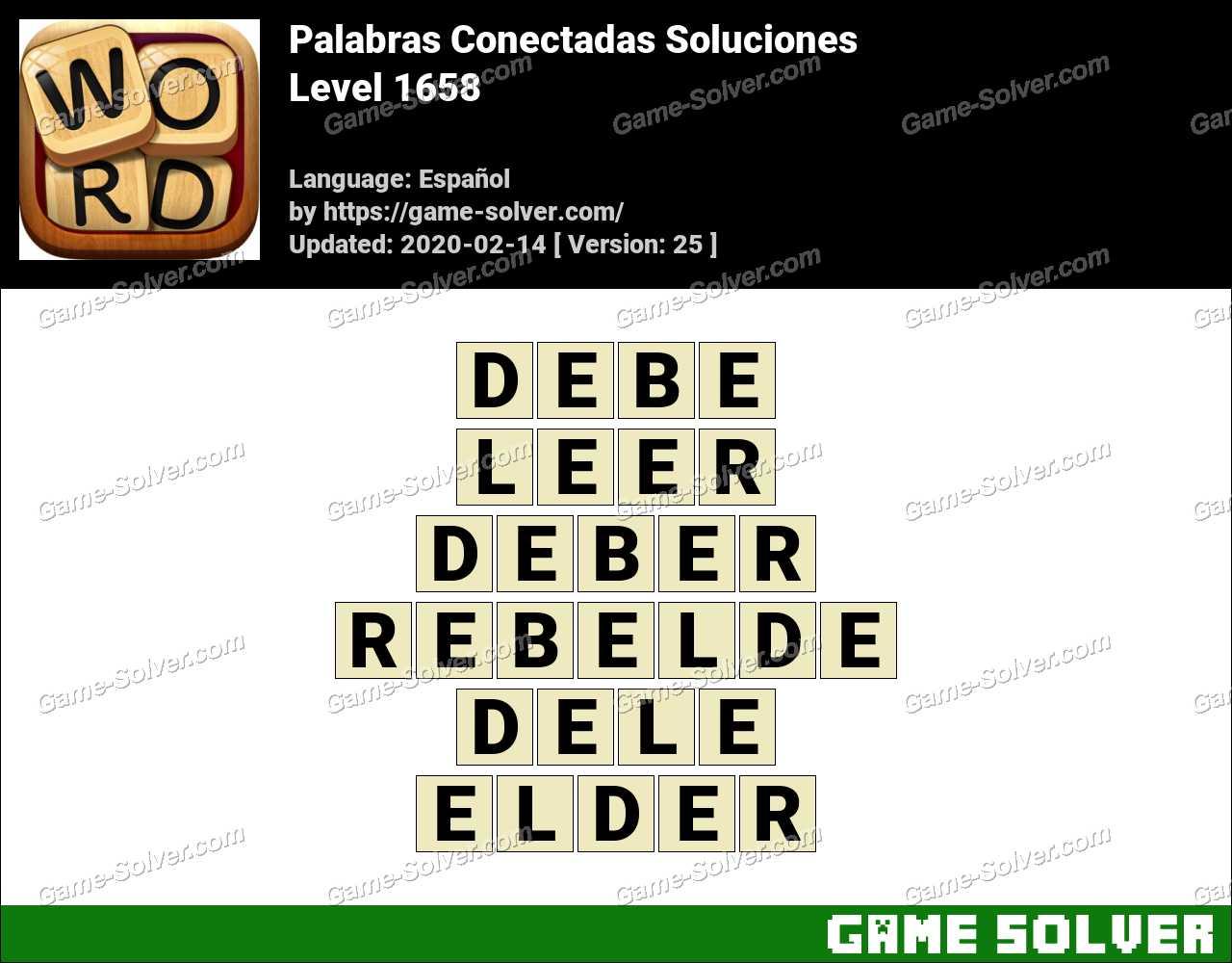 Palabras Conectadas Nivel 1658 Soluciones