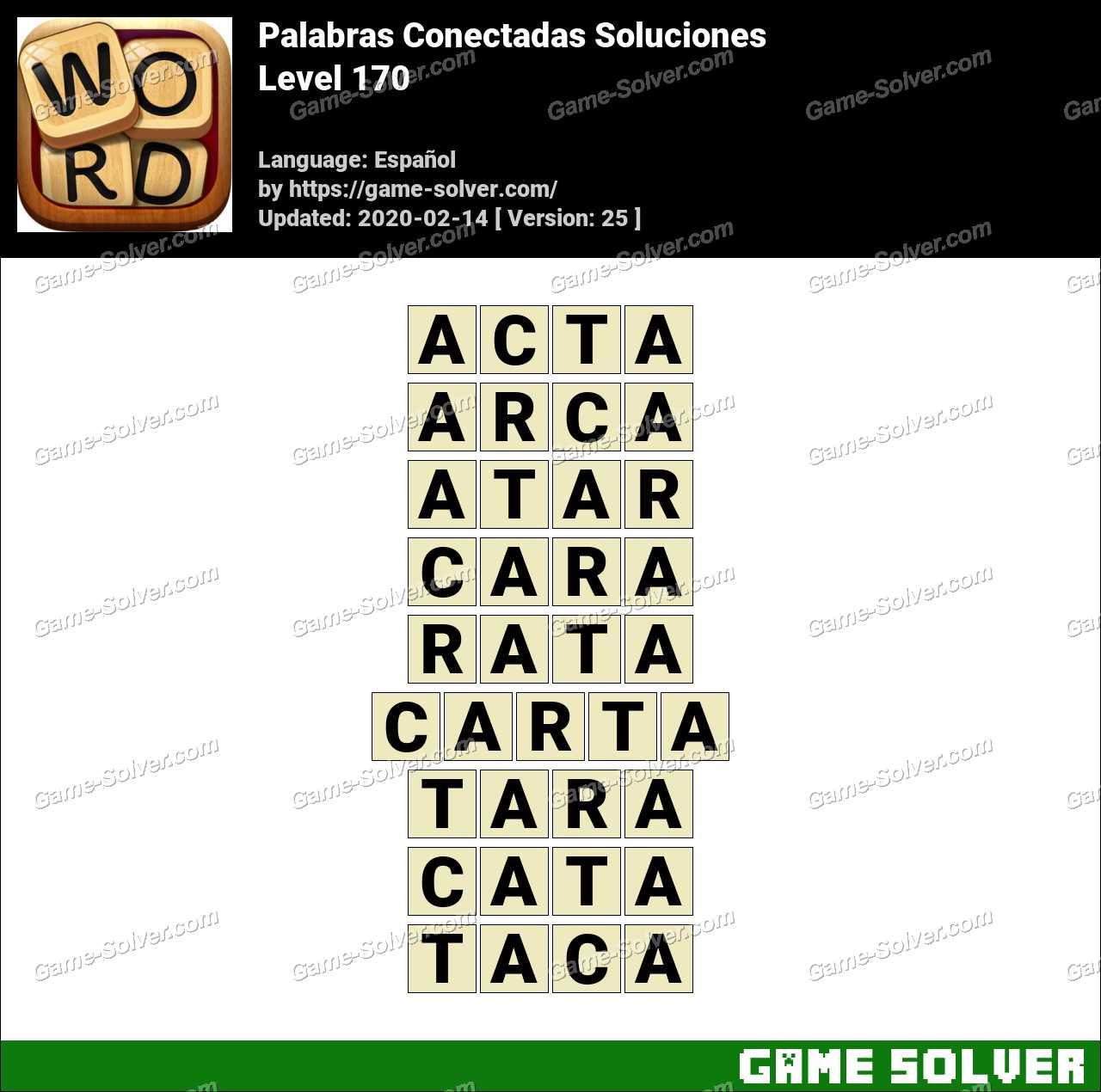Palabras Conectadas Nivel 170 Soluciones