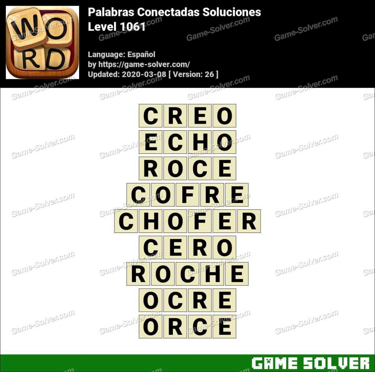 Palabras Conectadas Nivel 1061 Soluciones