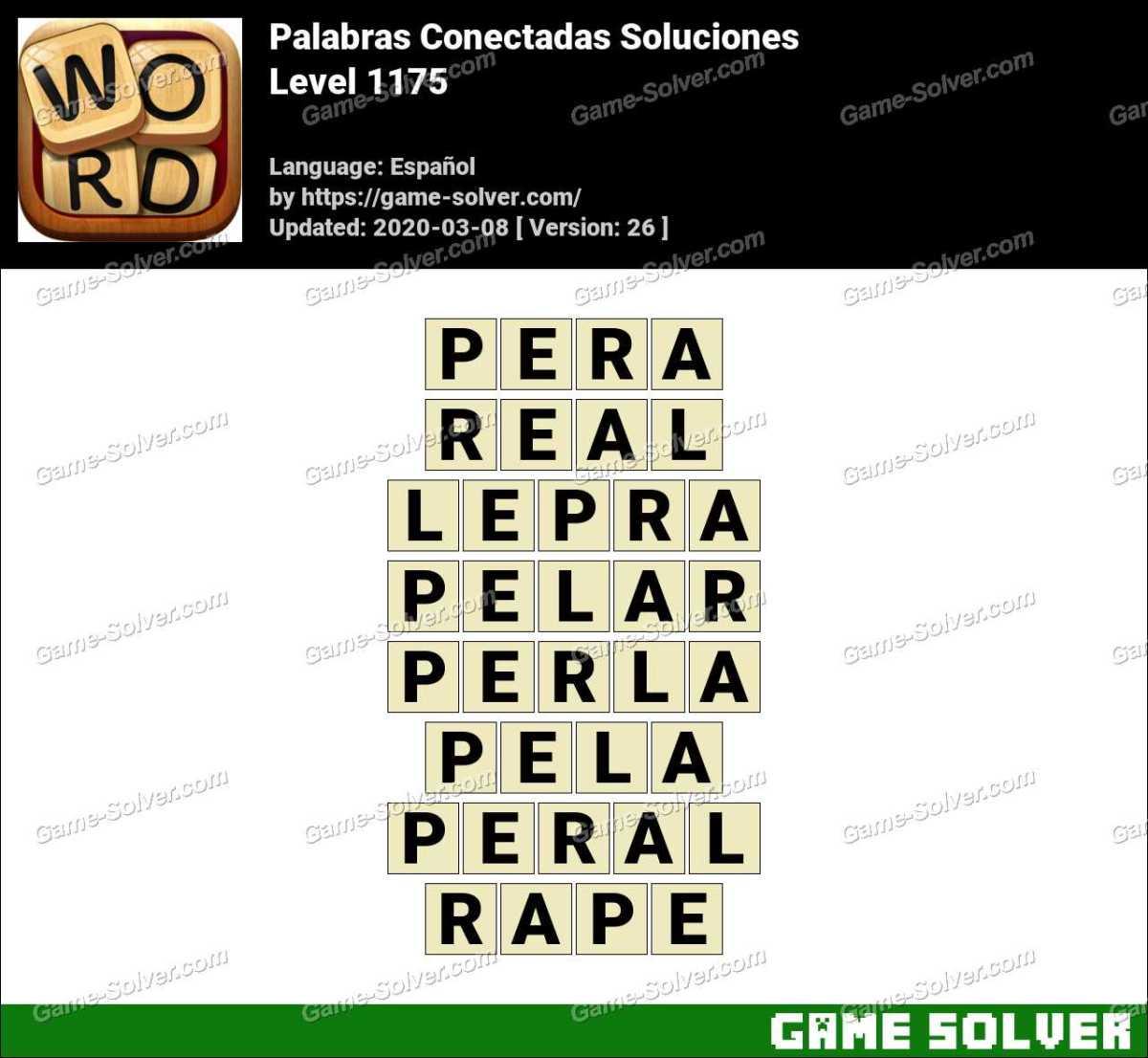Palabras Conectadas Nivel 1175 Soluciones