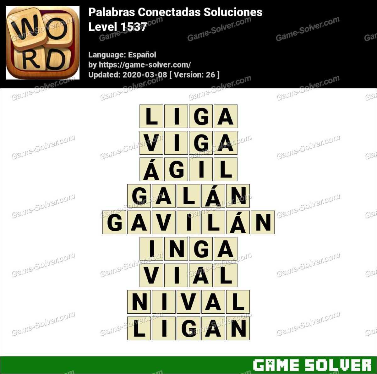 Palabras Conectadas Nivel 1537 Soluciones