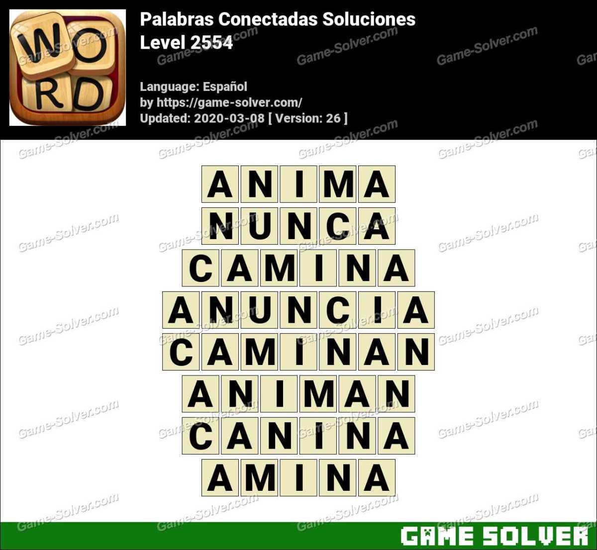 Palabras Conectadas Nivel 2554 Soluciones