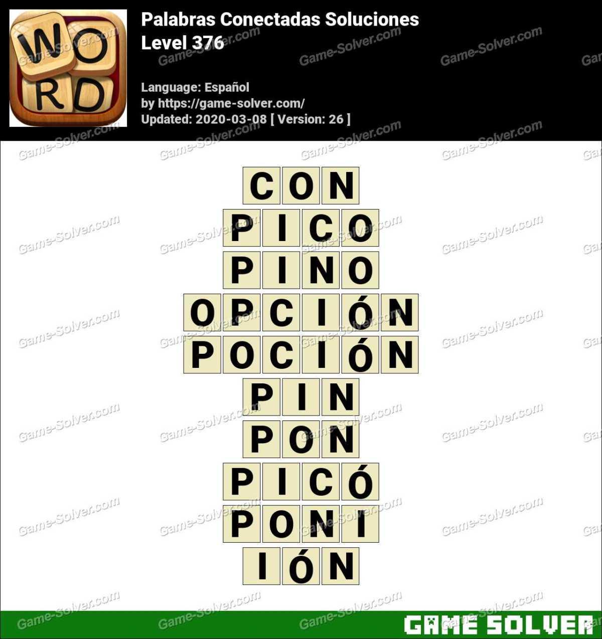 Palabras Conectadas Nivel 376 Soluciones