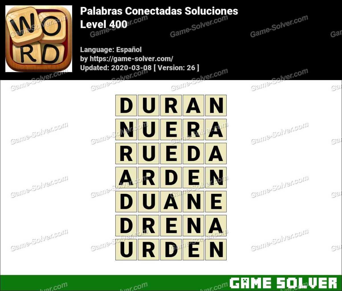 Palabras Conectadas Nivel 400 Soluciones