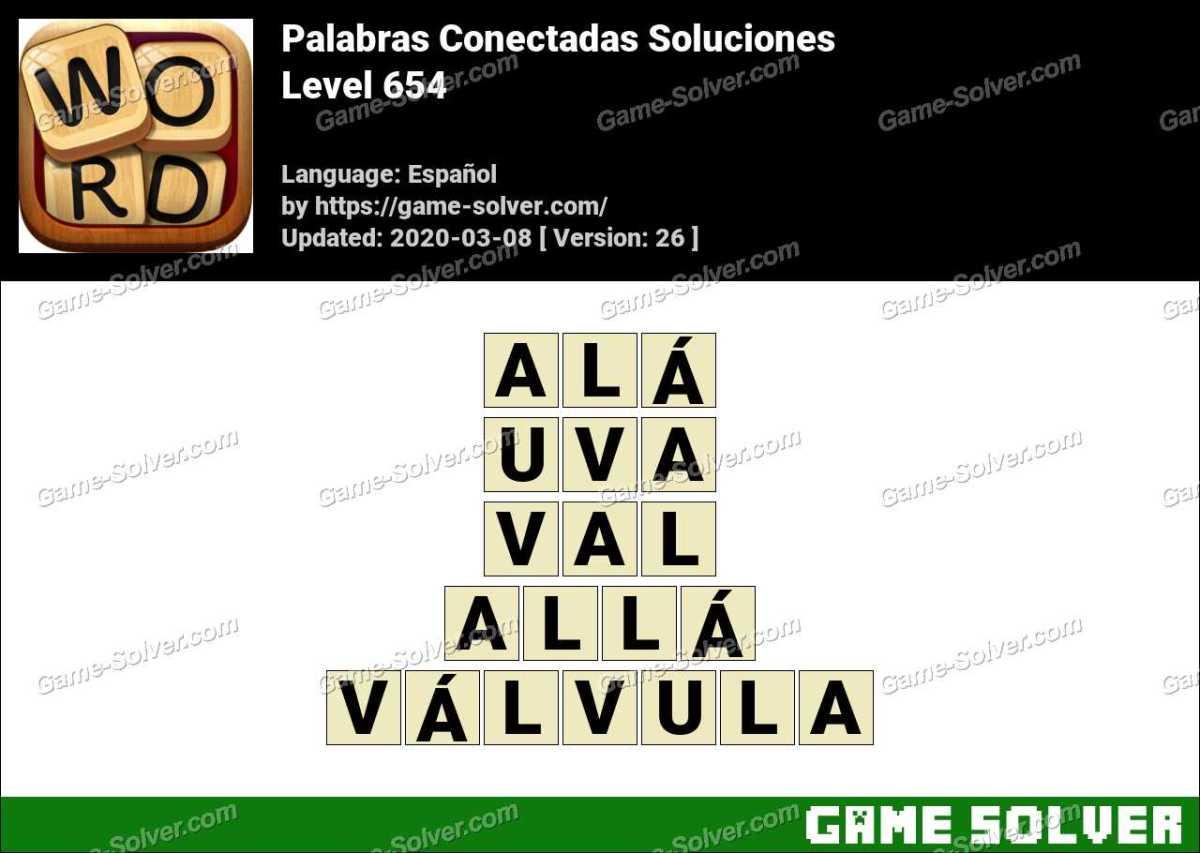 Palabras Conectadas Nivel 654 Soluciones