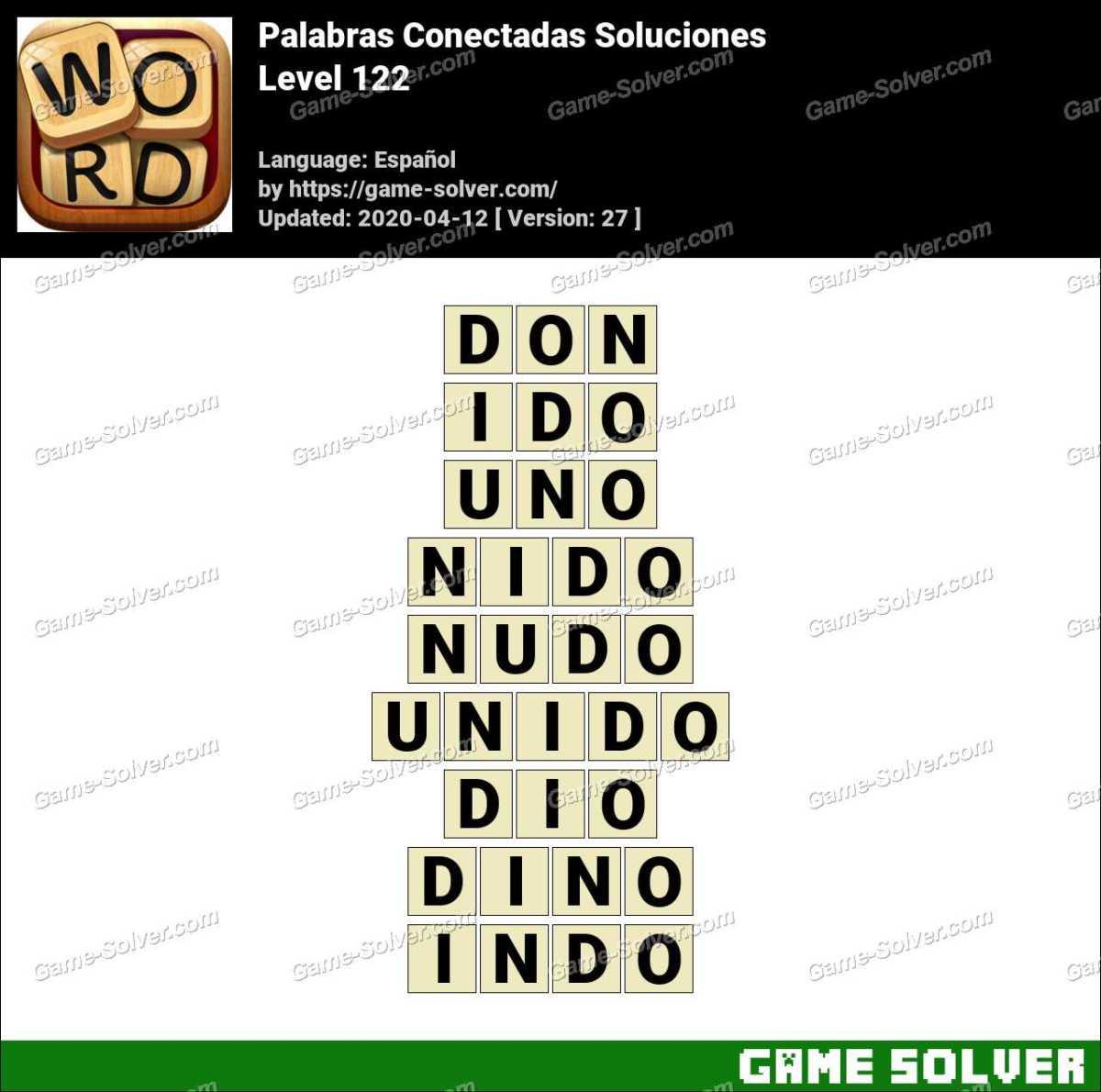 Palabras Conectadas Nivel 122 Soluciones