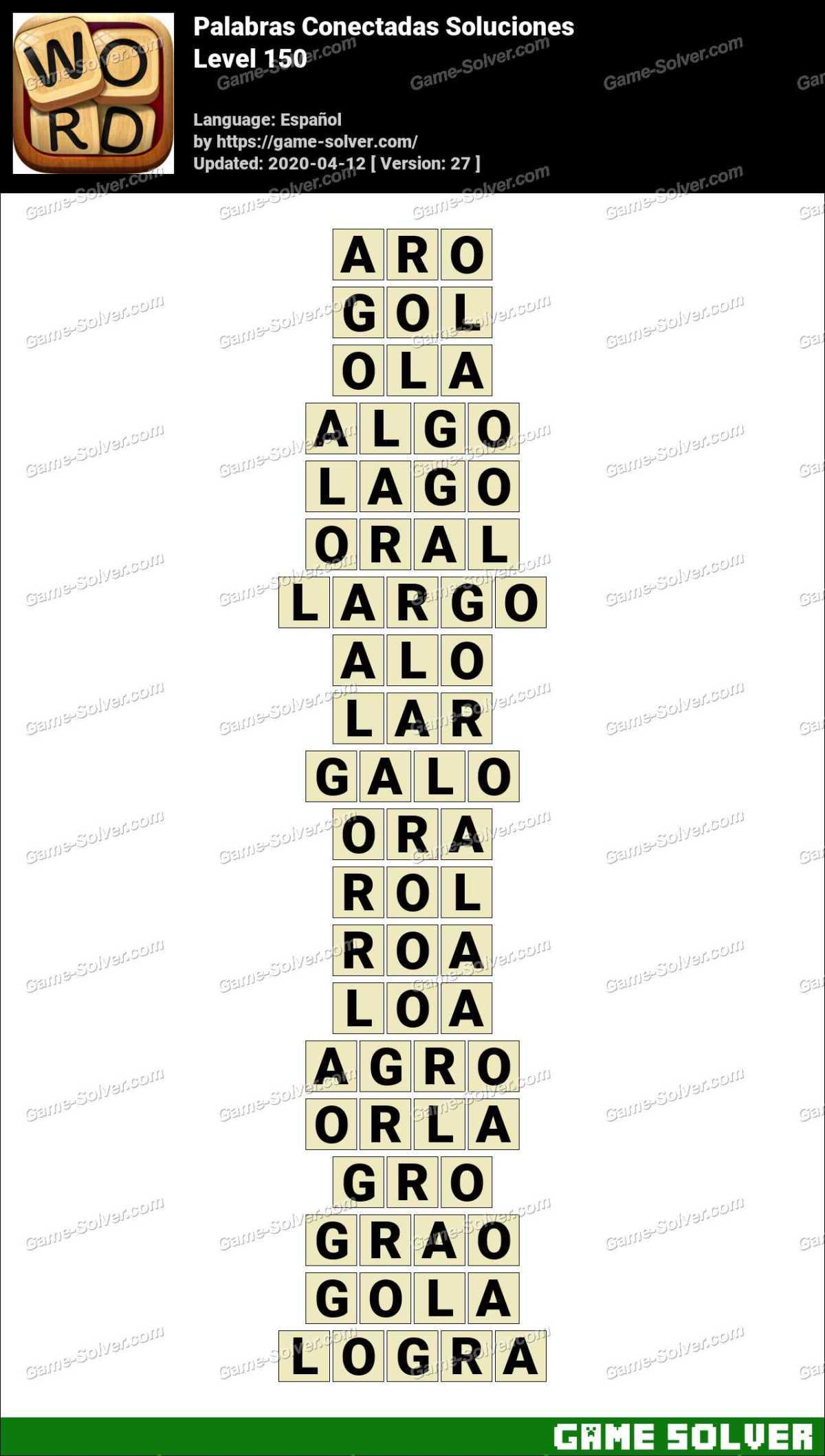 Palabras Conectadas Nivel 150 Soluciones