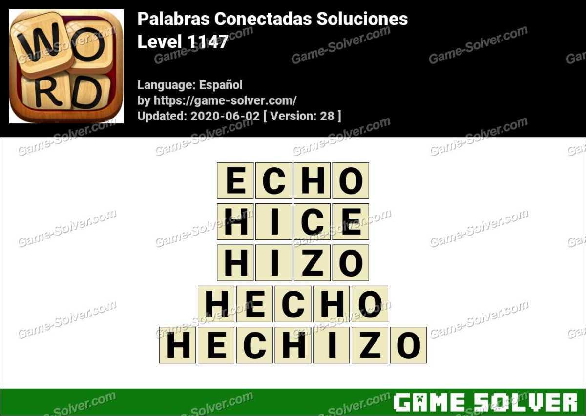 Palabras Conectadas Nivel 1147 Soluciones