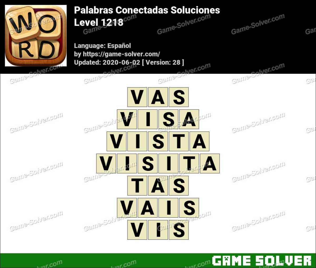 Palabras Conectadas Nivel 1218 Soluciones