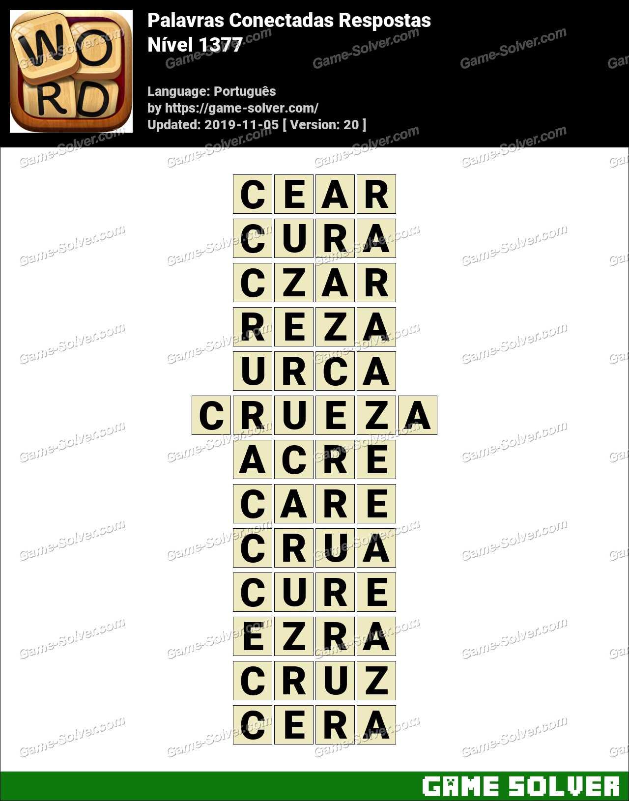 Palavras Conectadas Nivel 1377 Respostas
